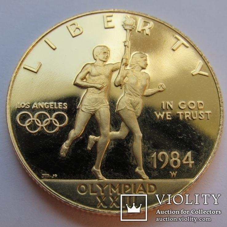 10 долларов 1984 г. США (Олимпиада ХХIII), фото №3