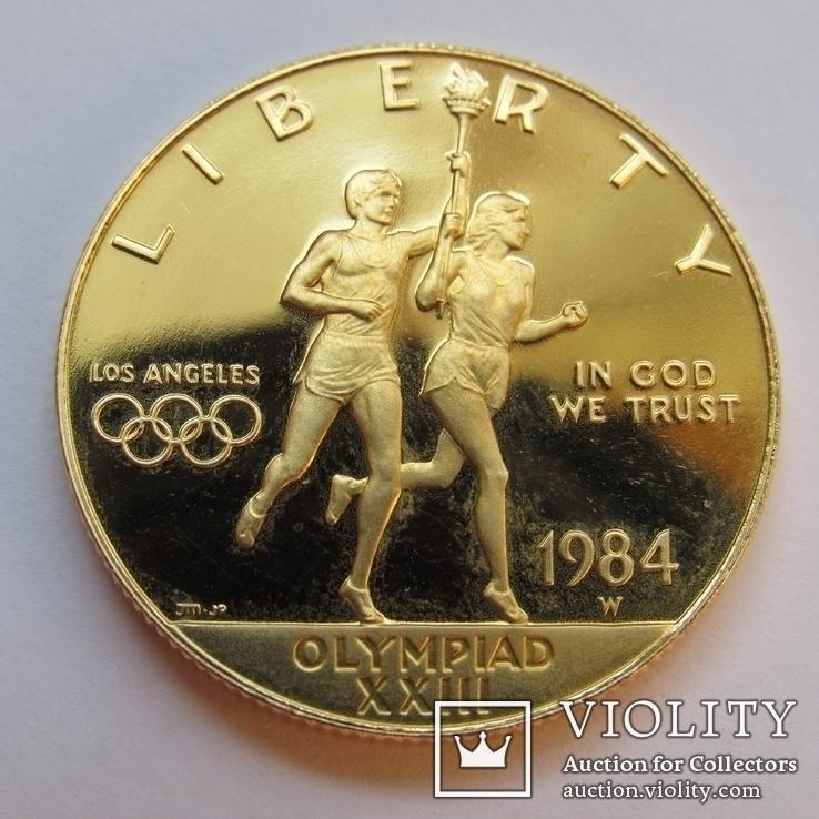 10 долларов 1984 г. США (Олимпиада ХХIII), фото №7
