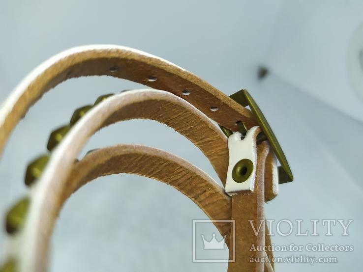 Длинный кожаный браслет в три оборота (3), фото №7
