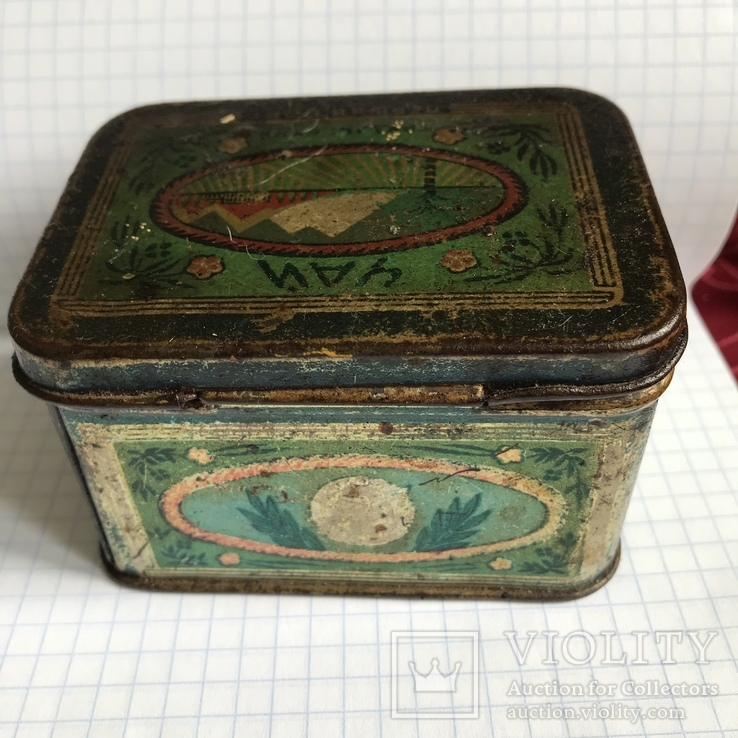 Жестяная коробка чай грузинский гост 1936-1946, фото №5