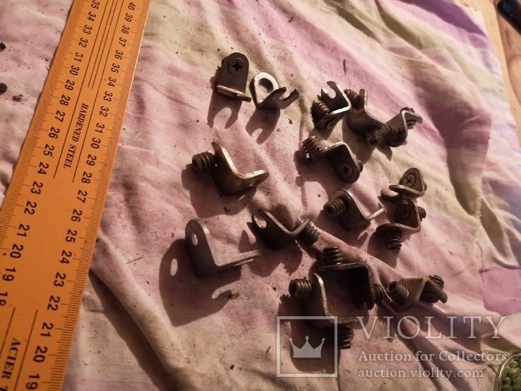 Угловые зажимы мебельные фурнитура СССР шкаф уголки, фото №3