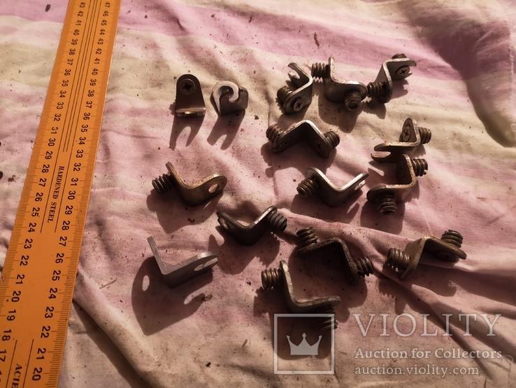Угловые зажимы мебельные фурнитура СССР шкаф уголки, фото №4