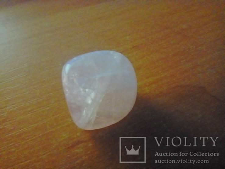 Природний камінь, мінерал 21,12 г. Рожевий кварц, фото №4