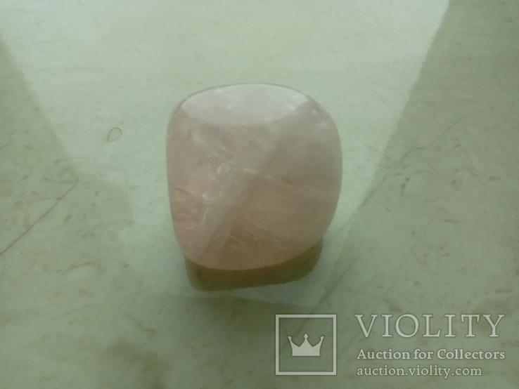 Природний камінь, мінерал 21,12 г. Рожевий кварц, фото №6