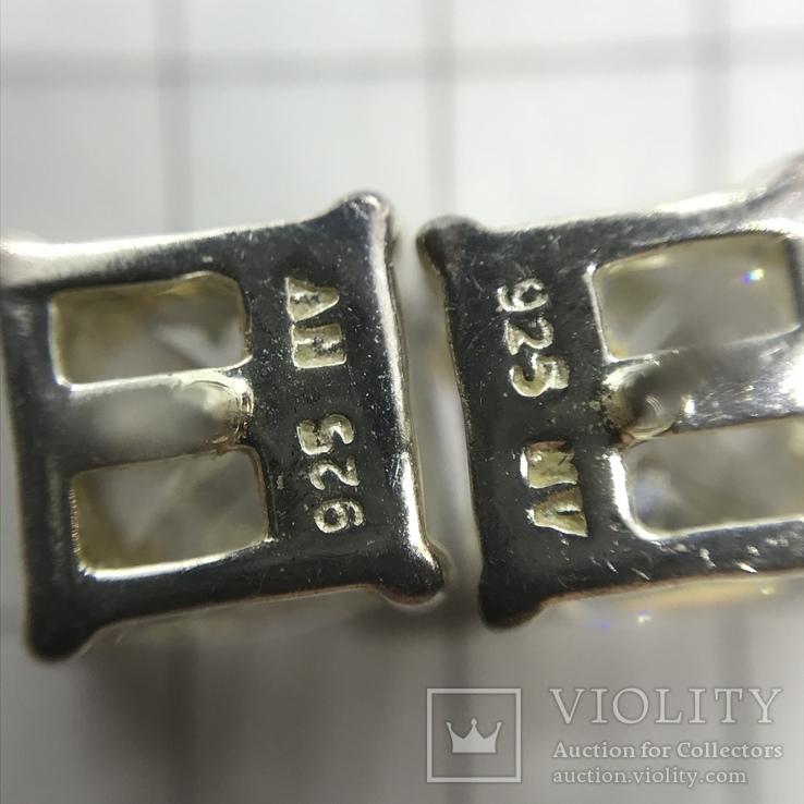 Серьги и подвес серебро на цепочке, фото №7