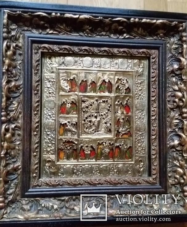 Ікона Святки, 84* 1878, Захаров І.В., 31,2х26,7 см, фото №2