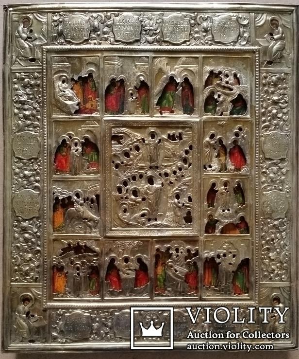 Ікона Святки, 84* 1878, Захаров І.В., 31,2х26,7 см, фото №3