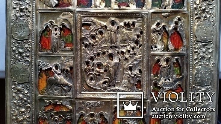 Ікона Святки, 84* 1878, Захаров І.В., 31,2х26,7 см, фото №6