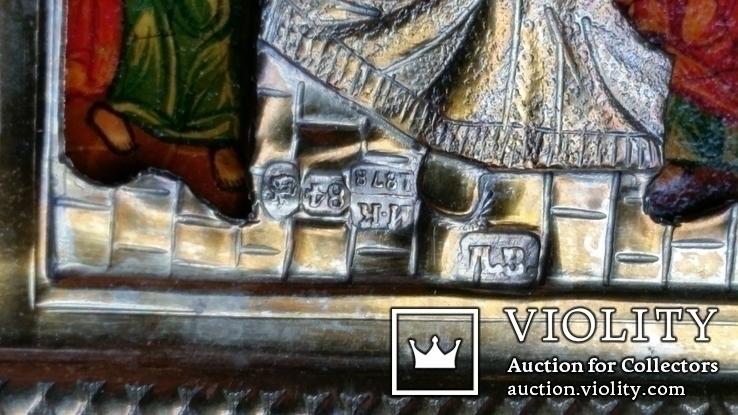 Ікона Святки, 84* 1878, Захаров І.В., 31,2х26,7 см, фото №8