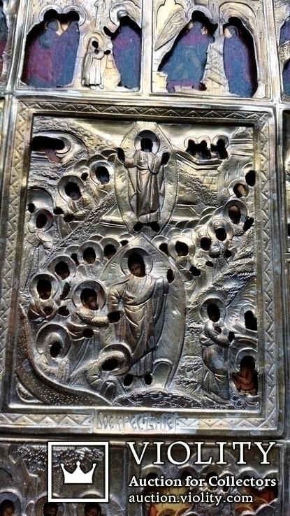 Ікона Святки, 84* 1878, Захаров І.В., 31,2х26,7 см, фото №9
