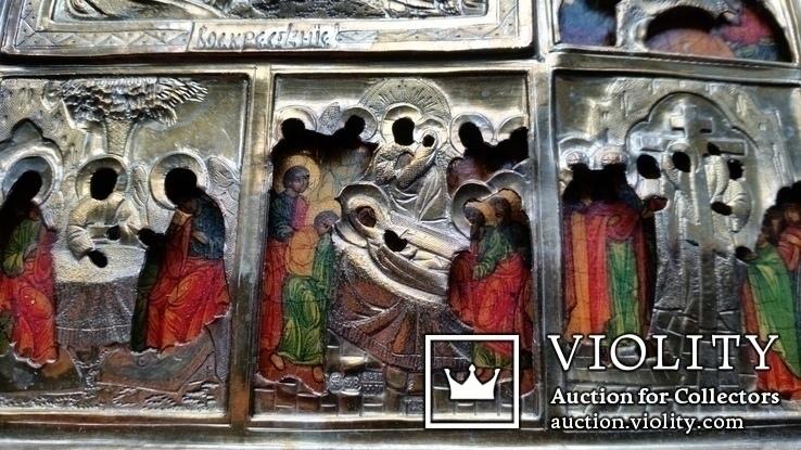 Ікона Святки, 84* 1878, Захаров І.В., 31,2х26,7 см, фото №10