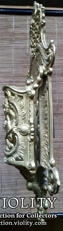 Настінний тримач щітки, бронза, Н37,5 см, фото №3