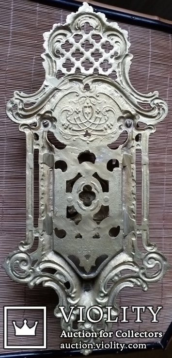 Настінний тримач щітки, бронза, Н37,5 см, фото №4