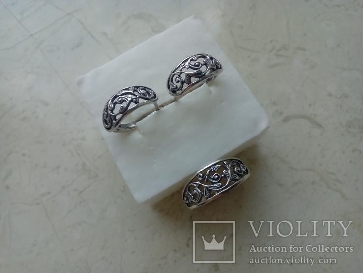 Прекрасний срібний гарнітур, фото №7