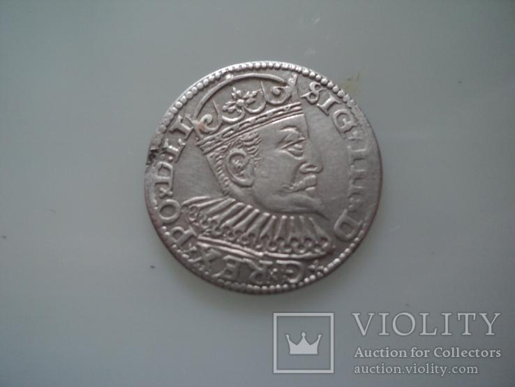 Трояк 1597 г, фото №3