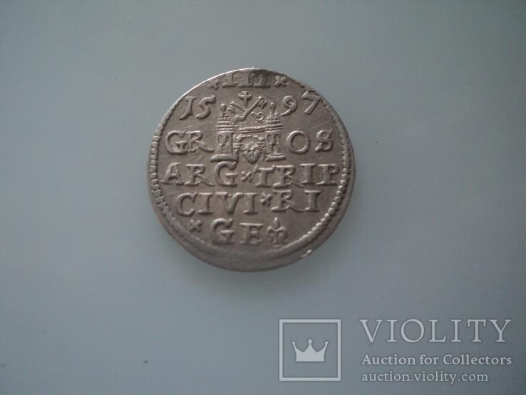 Трояк 1597 г, фото №9