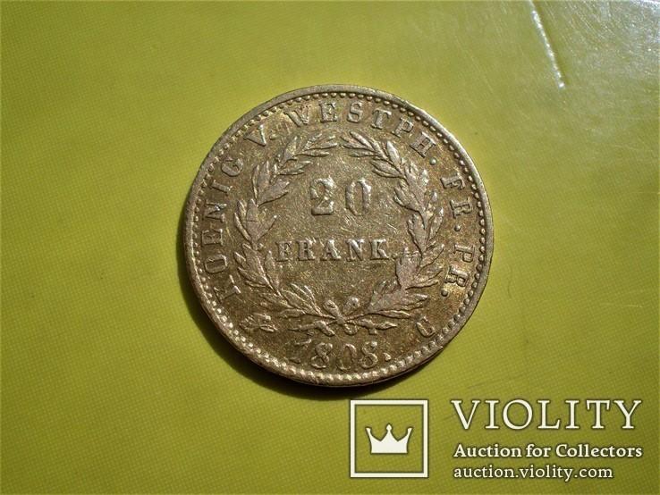 20 франков 1808 г. Вестфалия. Германия(1), фото №8