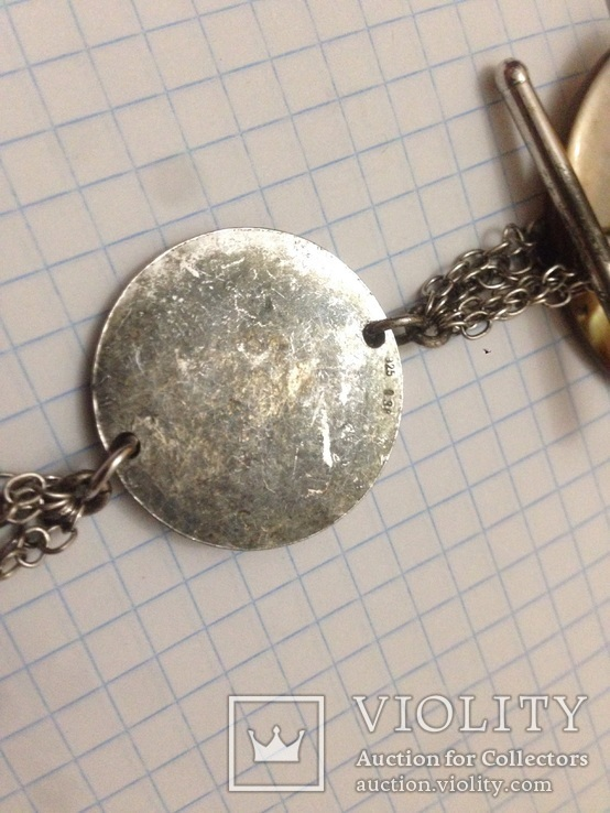 Подвеска перламутр,серебро, фото №4