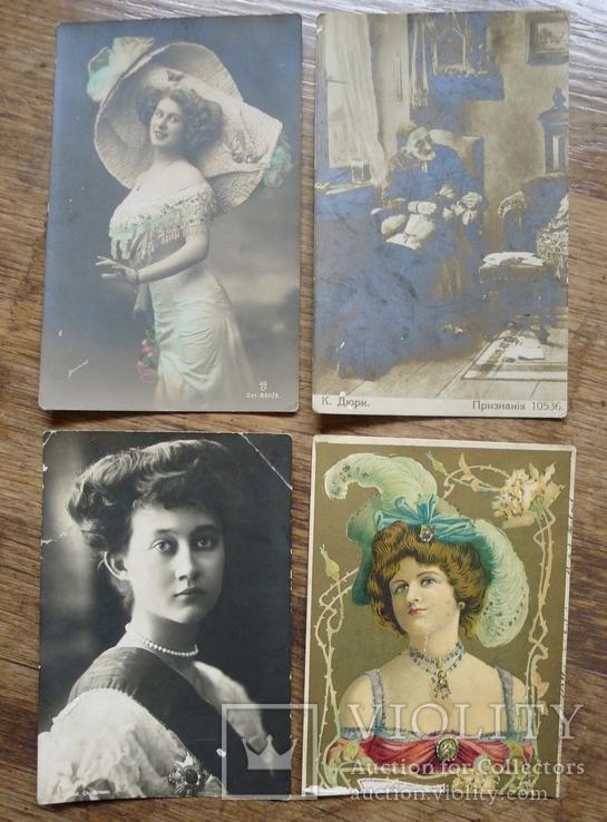 Старинные открытки с барышнями., фото №2