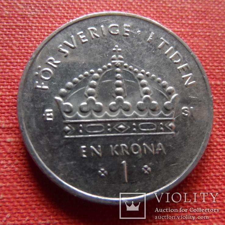 1 крона 2007 Дания    (Т.6.17)~, фото №2