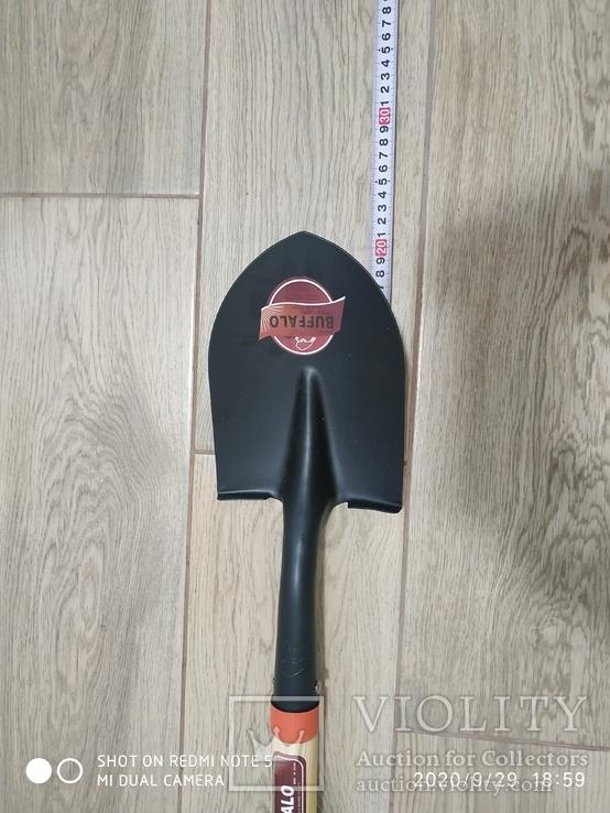 Лопата BUFFALO (саперна) дерев'яний держак, фото №3
