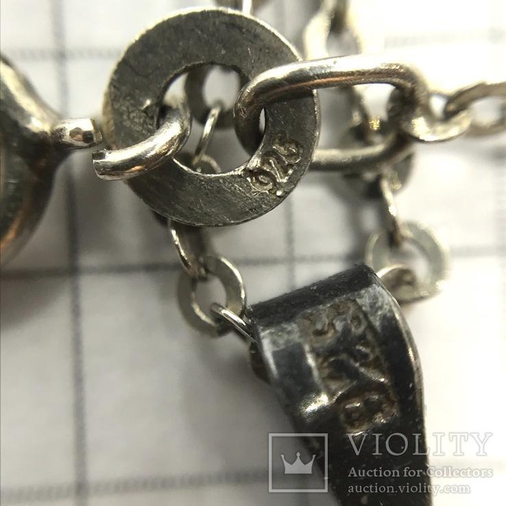 Подвес серебро на цепочке с сапфиром, фото №9