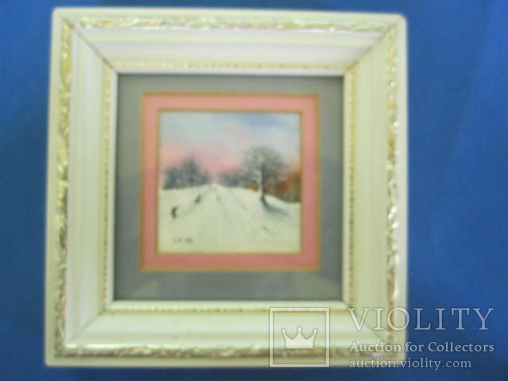 Картины миниатюры акварель 3 шт., фото №7