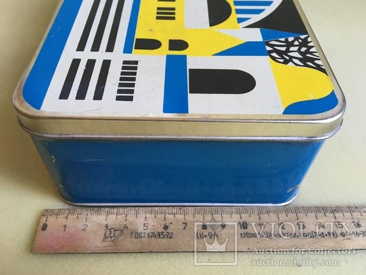 Большая коробка из жести Городской сюжет 18*13*8см., фото №11