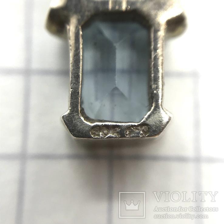 Подвес серебро с топазом на цепочке, фото №9