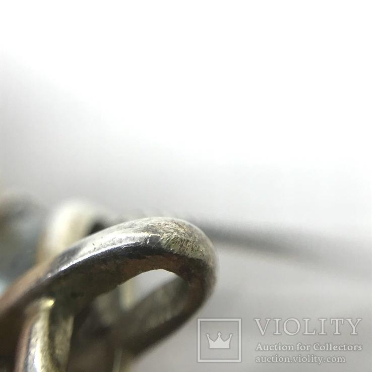 Подвес серебро с топазом на цепочке, фото №10