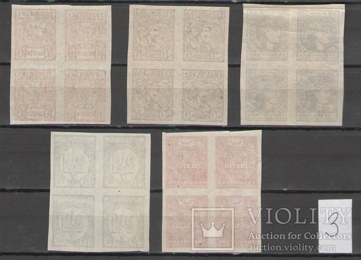 1918 Украина УНР шаги полная серия кварты MNH **, фото №3