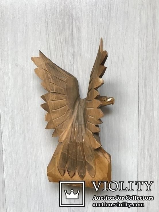 Орёл,16,5см( дерево) б/у, фото №4