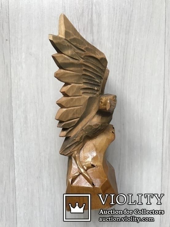 Орёл,16,5см( дерево) б/у, фото №5