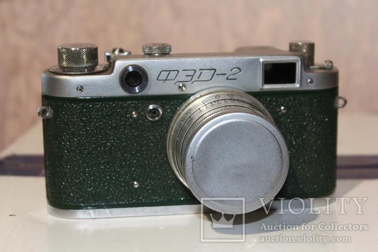 Фотоаппарат ФЭД 2(зеленый корпус)., фото №2