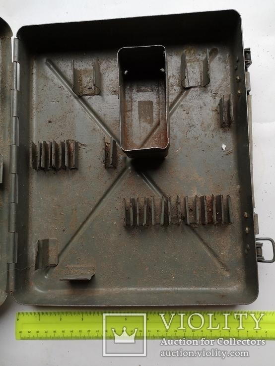 Кейс портфель армейский металический для инструментов саквояж, фото №4