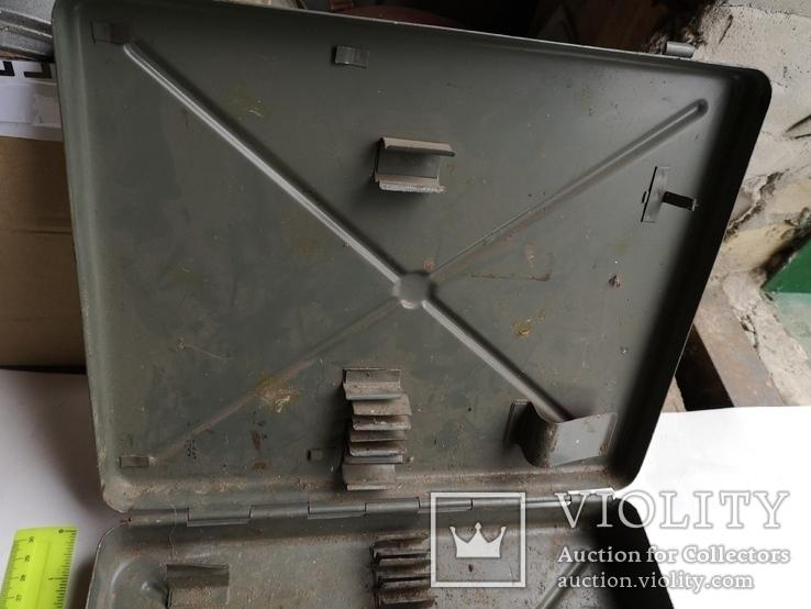 Кейс портфель армейский металический для инструментов саквояж, фото №6