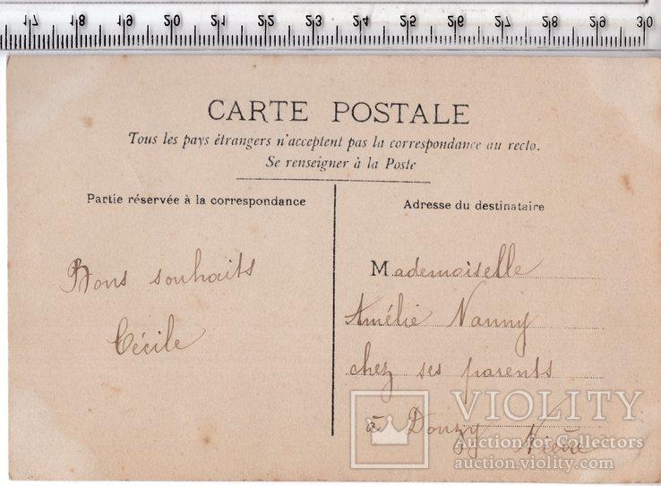 Старинная открытка. 1909 год. Романтика.(3), фото №3