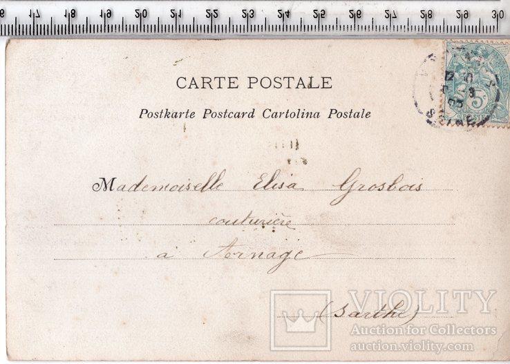 Старинная открытка. 1905 год. Романтика.(3), фото №3