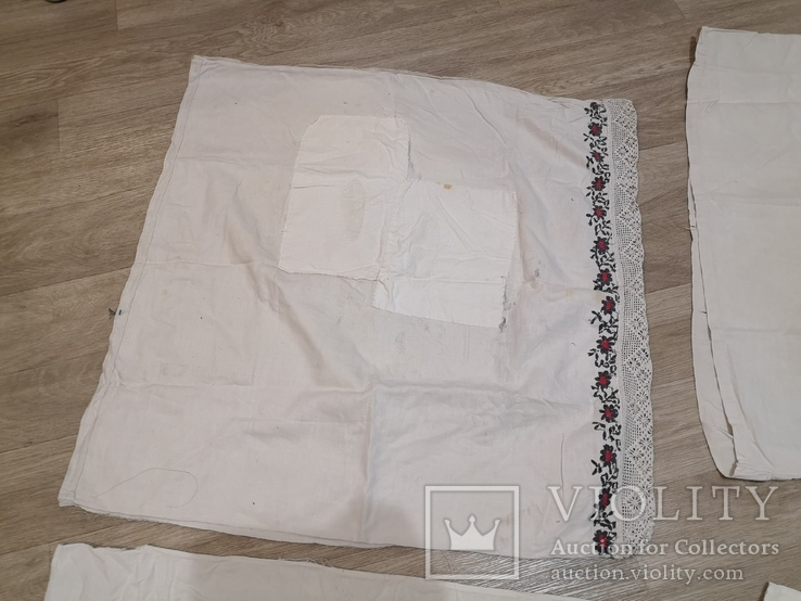 Наволочки вышивка ручная работа 4 штуки, фото №3