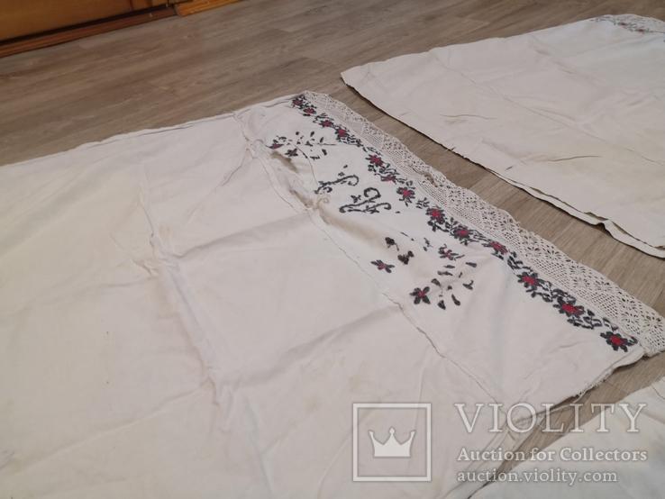 Наволочки вышивка ручная работа 4 штуки, фото №5