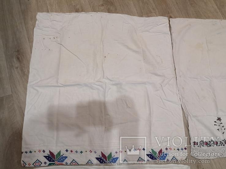 Наволочки вышивка ручная работа 4 штуки, фото №9