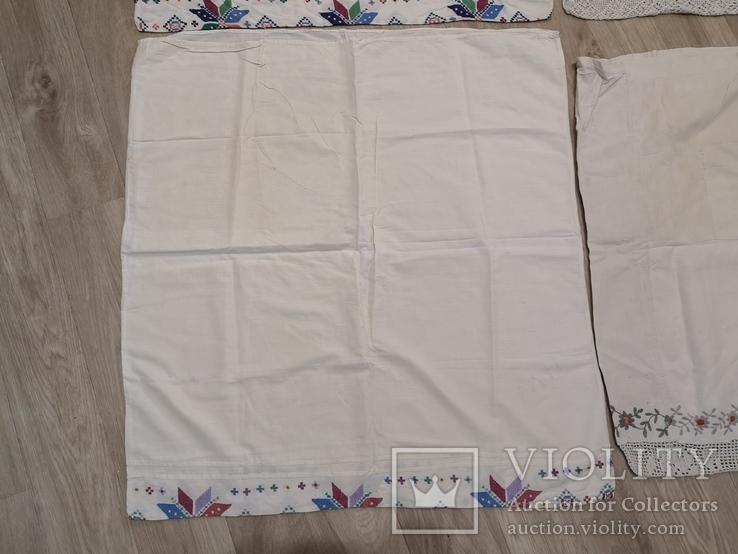 Наволочки вышивка ручная работа 4 штуки, фото №12