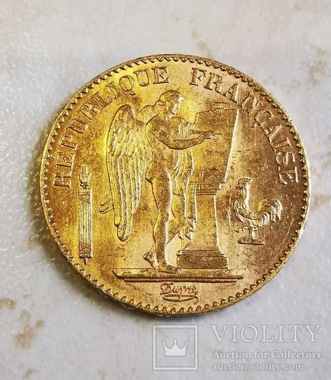 20 франков 1896 г, фото №2