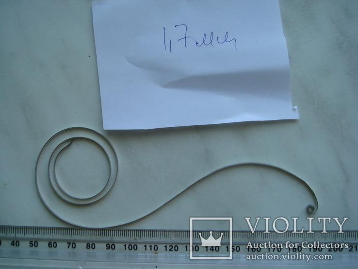 Пружина к часовому механизму. ширина 1.7 мм, фото №2