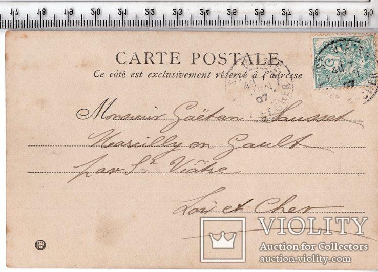 Старинная открытка. 1907 год. Дети. (3), фото №3