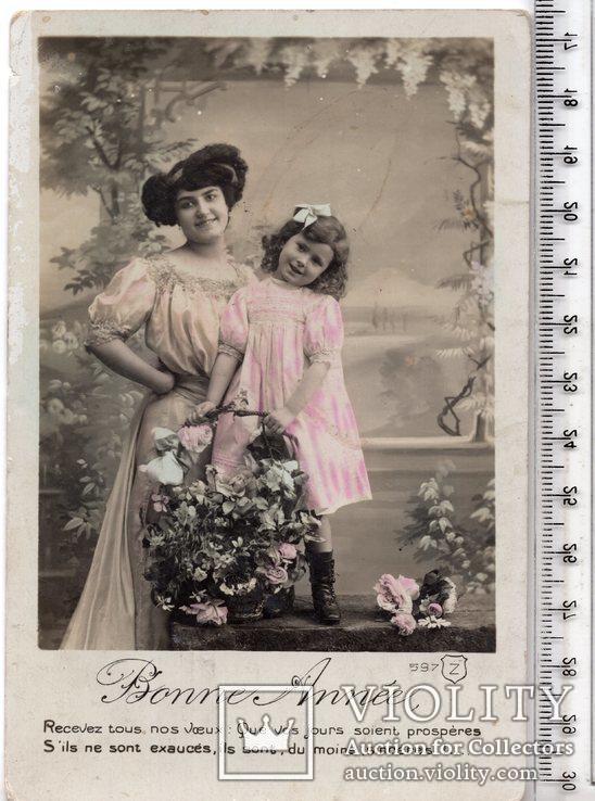 Старинная открытка. 1910 год. Дети. (3), фото №2