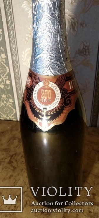 Шампанское игристое 200 лет Основания Севастополя (в связи с не выкупом), фото №3