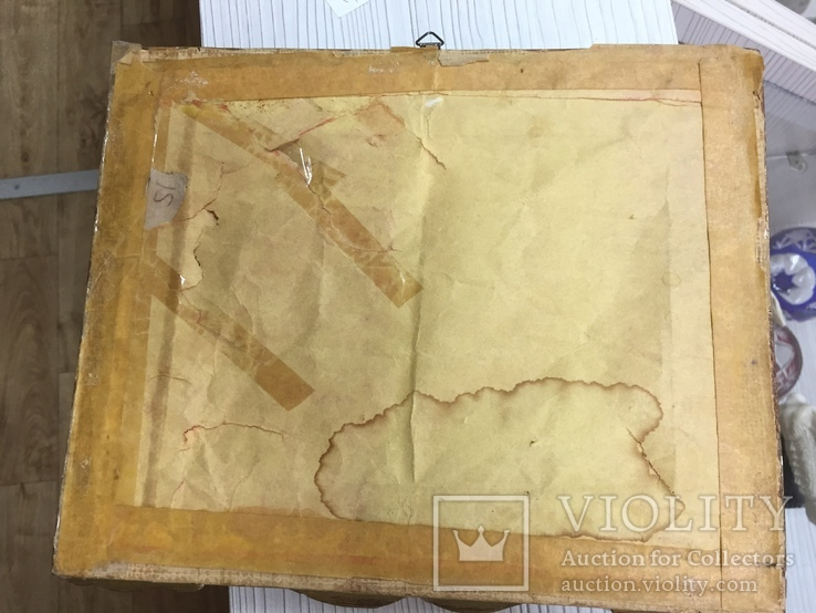 """Парные картины """"Пейзаж"""", руч. живопись на фарфоре одного худ., подписн., нач. 20 века., фото №9"""