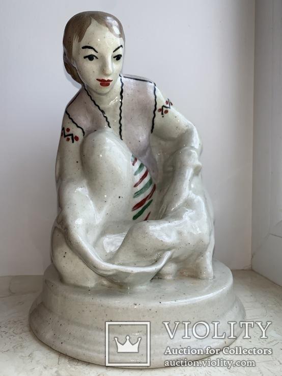 Дівчина з ягням,30-40рокі, фото №2
