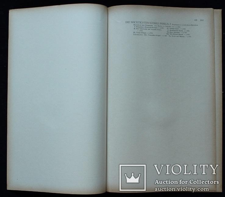 3 карты. Океания, Австралия. Andrees HandAtlas. 1921 год. 56 на 44 см (3)., фото №6